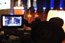 Filmación & proyección en pantalla en vivo - Foro Nacional del Seguro