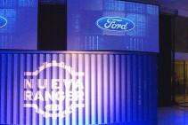 Pantallas 4x3 m. colgadas en altura - Lanzamiento Nueva Ford Ranger - Maipú Automotores.
