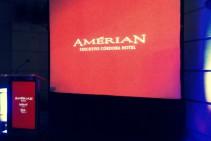 Pantalla 3 x 2,25 m retroproyectada - Inauguración Amérian Executive Hotel