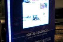 Ministerio de comunicación y Desarrollo Estratégico - Tótem interactivo ploteado con web del cliente
